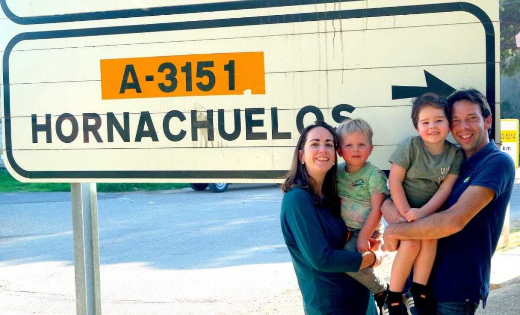 Foto van Kim met haar gezin in Spanje
